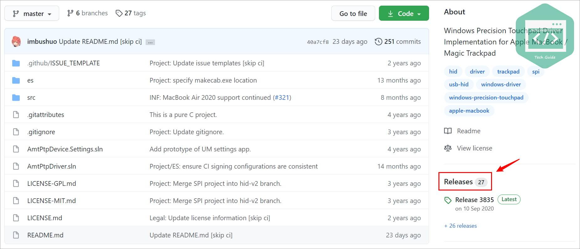 click Releases on this GitHub page
