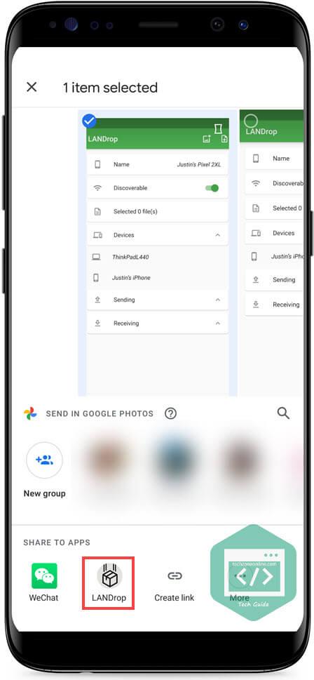 Android share menu LANDrop-2