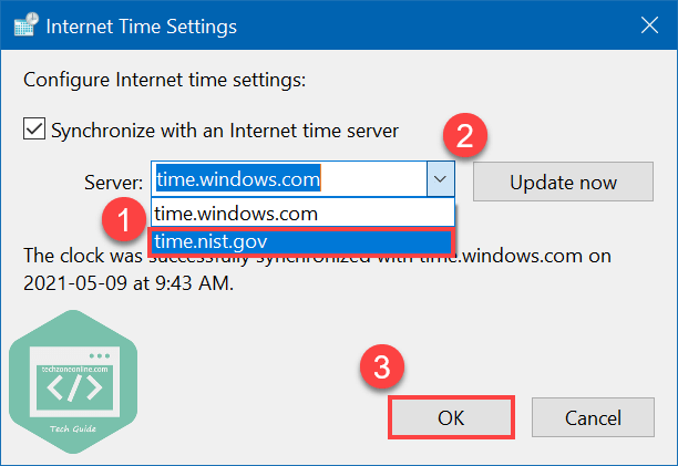Change Internet server