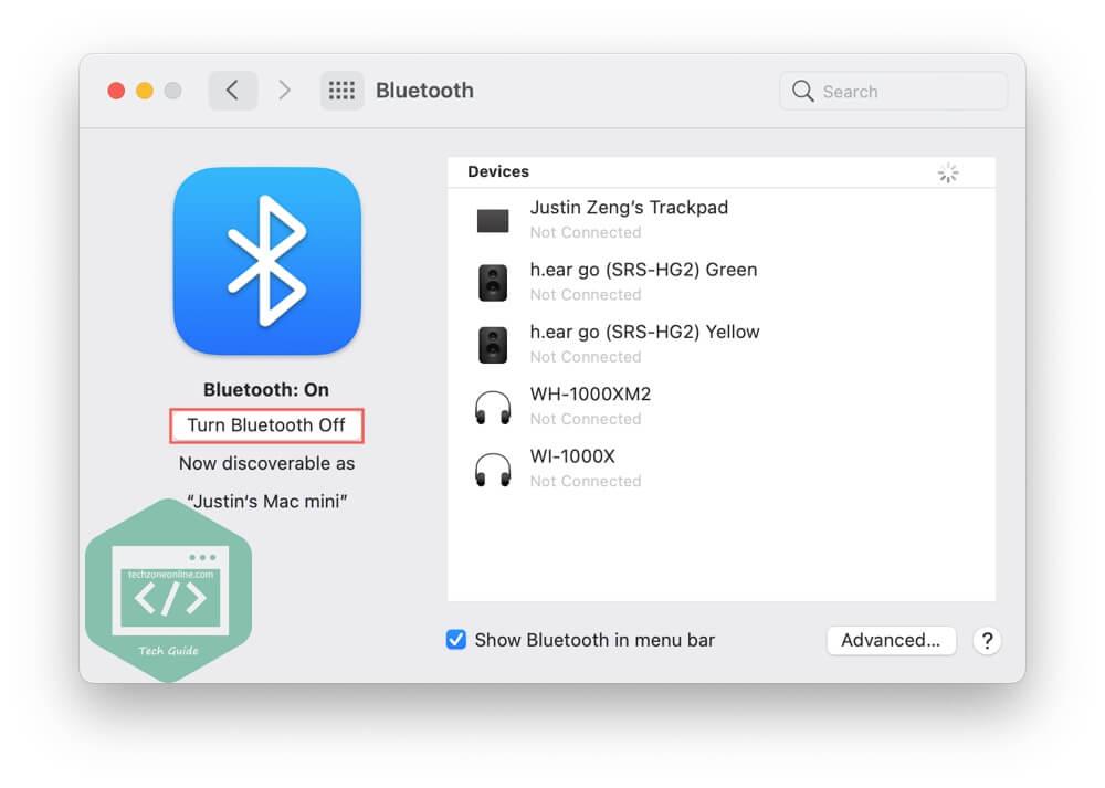 Turn off Bluetooth macOS