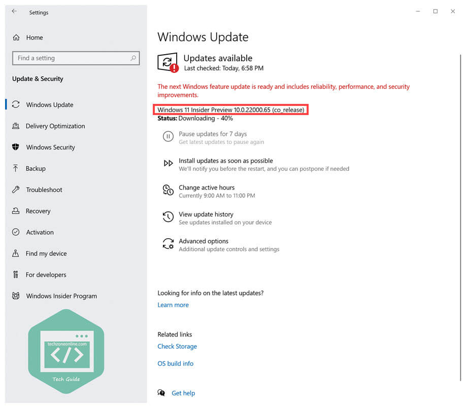 Check for the latest Windows 11 Insider Preview build