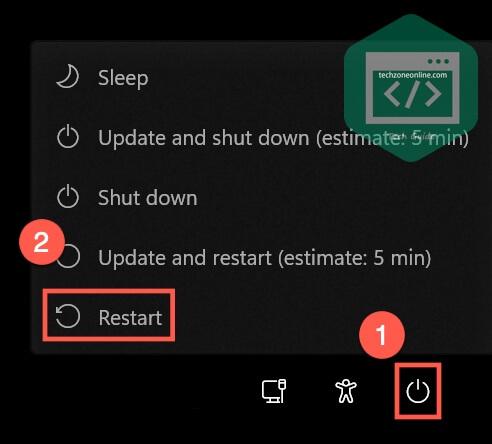 Hold Shift and restart Windows