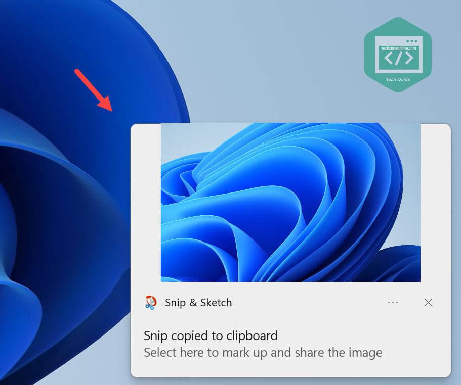 Snip & Sketch Screenshot thumbnail Windows 11
