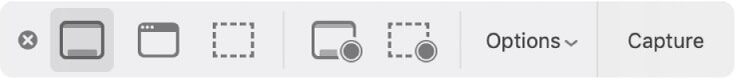 The Screenshot app on macOS
