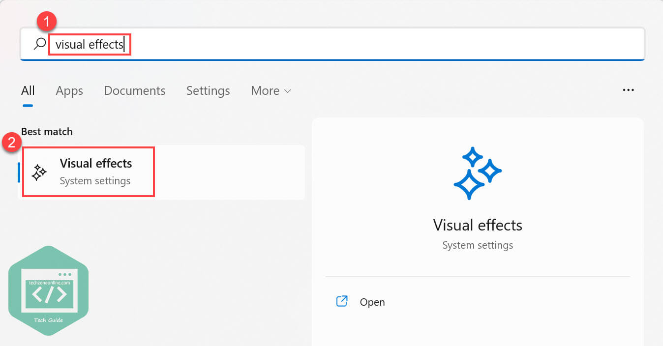 search for visual effects